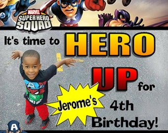 30 Personalized Birthday Scratch Ticket Favors, SUPERHERO SQUAD