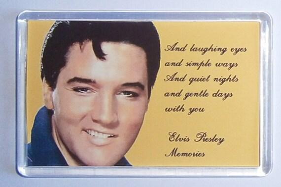 Elvis Presley Love Me Tender - Memories - If I Can Dream - Wonder of You lyrics movie poster fridge magnet