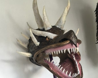Dragons head mask mens costume accessory ladies cosplay dragon mask full head monster mask scary mask fancy dress costume party larp