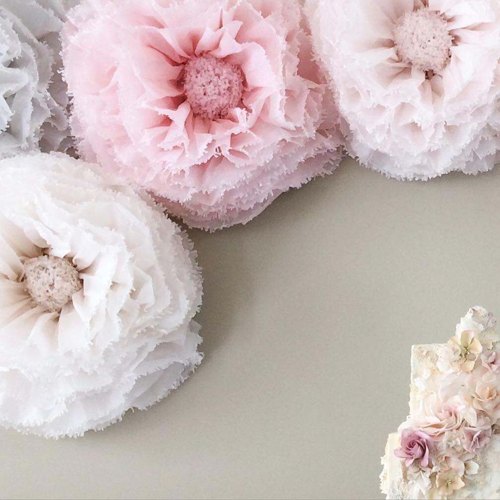 Blush paper flowers hand dyed giant paper flower backdrop zoom dhlflorist Image collections