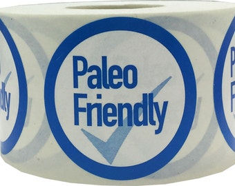 """Paleo Friendly Stickers   Food Allergy Warning Labels - 1.5"""" Round - 500 Stickers"""
