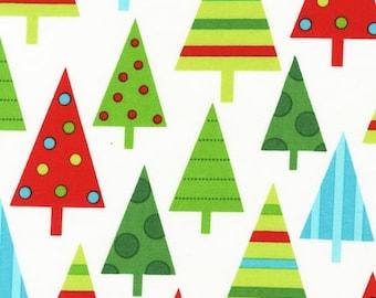 Robert Kaufman Jingle Christmas Trees Winter (Half metre)