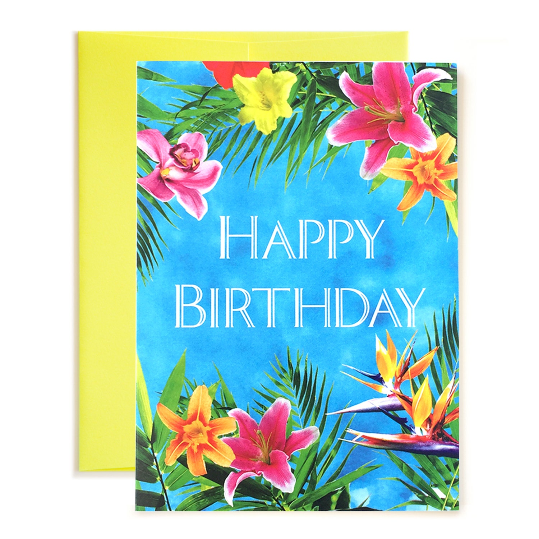 Tropical Escape Happy Birthday Card