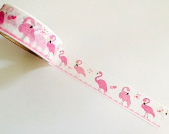 Washi tape, pink Flamingos
