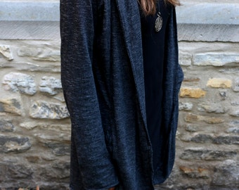 Kimama Hooded Cardigan, Shirt Jacket, Vest, Cardigan, Alternative Wear,