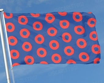 Phish Donuts Flag - Vendors, Festivals, Tailgating, Businesses, Bands, Clubs, Teams, Weddings, Parties