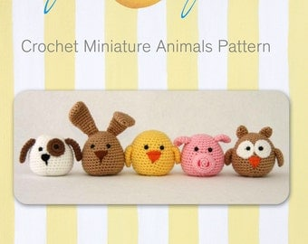 Super Cute Crochet Miniature Animals pattern