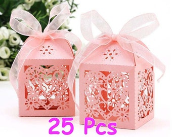 Sweet Heart box Wedding favor box Flower Party mini cupcake gift boxes Lady Night party decor little gift box