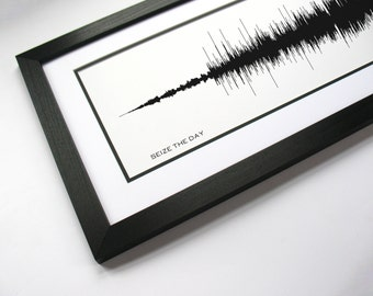 Seize The Day: Song Sound Wave Art - Music Lyric Art -  Broadway Music Sound Print