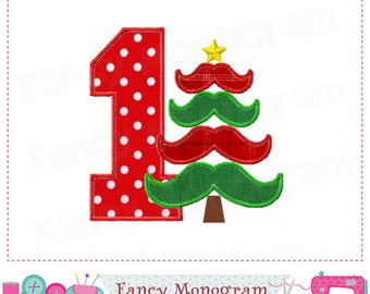 Christmas Number 6 applique Birthday number 6 by FancyMonogram
