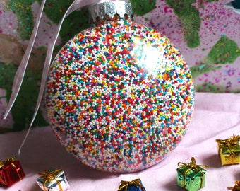 Rainbow Sprinkles Ornament (4 inches)