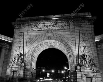 Black and White, New York City Photography, Manhattan Bridge Arch, Lower Manhattan, Fine Art Photography, NYC Pictures, Manhattan Bridge