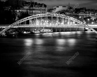 Black and White, Paris Photography, Paris France Photography , Fine Art Photography, Paris Pictures, Debilly Pedestrian Bridge