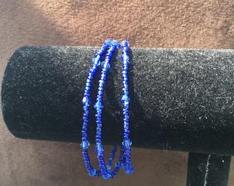 Blue Multi-Stranded Bracelet