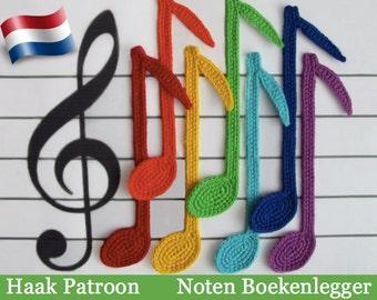 023NLY Noten Boekenlegger - Amigurumi haak patroon - PDF file by Zabelina Etsy