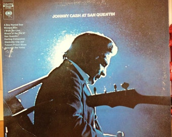 Johnny Cash At San Quentin. Record # CS 9827. Nice Clean 2 Eye Stereo! A Cash Classic!