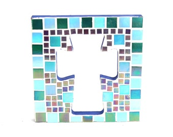 Cross Outline Mosaic - Wall Art