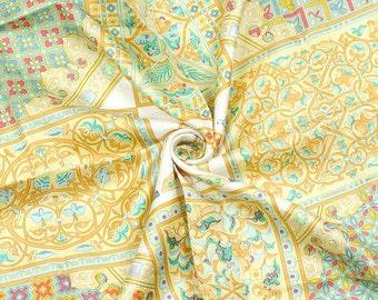 "HERMES SCARF Silk ""Ciels Byzantins"" by Julia Abadie 90cm Carre 100% Auth"