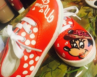Kids custom painted shoes