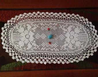 Crochet doily handmade cotton decoration