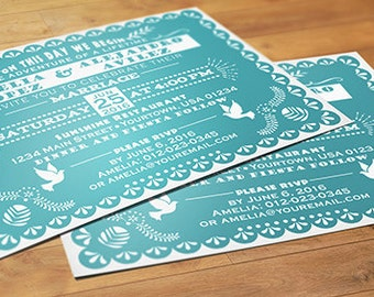 mexican wedding invitations  etsy, Wedding invitations