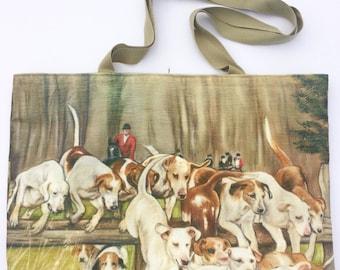 Hound Tote Shoulder Bag by Irish Artist Grace Scott
