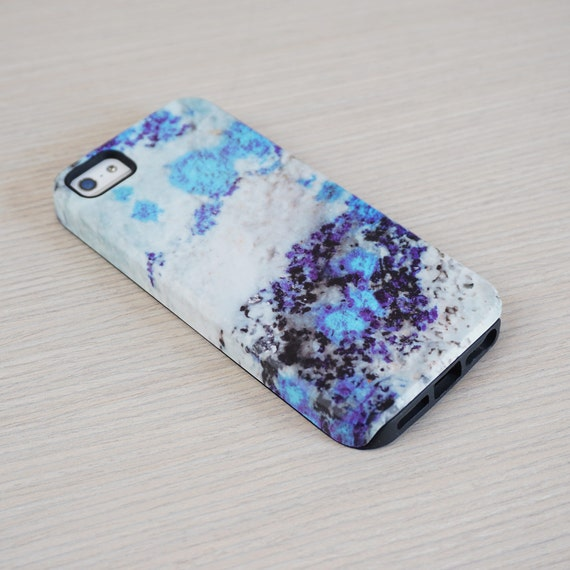 Blue Stone Phone Case, Azurite Texture, iPhone Cases, Galaxy Phones, Asus Phone Case