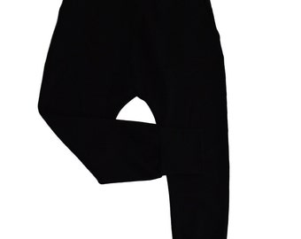 Growing harem, drop crotch sweatpants - Black