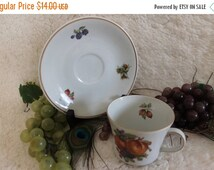 Fall CLEARANCE Sale Golden Crown E&R 1886 Bavaria Tea Cup and Saucer
