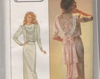 Misses Jessica McClintoch Dress Sewing Pattern Simplicity 8224  sz 12 Bust 34 uncut