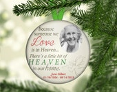 In Memory Memorial Ornaments, One of a Kind, Personalized, Personalised, Loved one, Christmas Hanging Ornament - OR1006