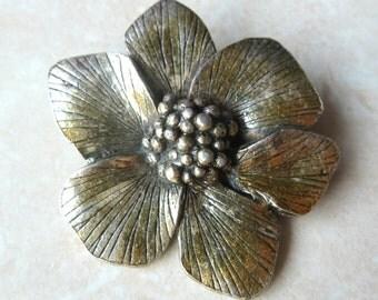 Vintage Miracle Brooch, Wild Dog Rose Brooch, English Rose Brooch.