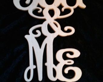 "Wood Carved Wall Decor ""You & Me"""