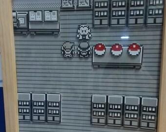 Pokemon Professor Oaks Lab - 3D Game Map Box Frame