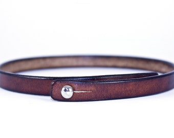 Leather Choker- Leather Necklace - Brown Choker