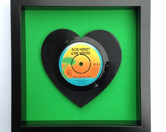 Bob Marley 'Could You Be Loved' Heart Shaped Vinyl Record Art