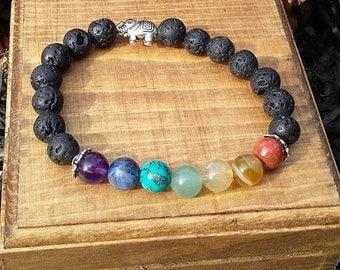 Chakra Balancing / Mala Bracelet / Meditation Bracelet/ Prayer Beads / Yoga Jewelry