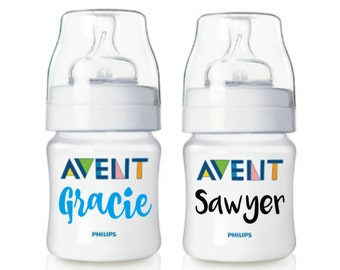 Baby Bottle Name Labels || School Name Labels, Preschool Labels, Daycare Labels, Name Label for Sippy Cups, Baby Bottle Labels