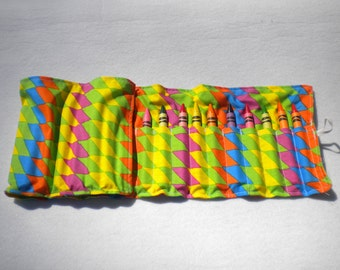 Bright Colored Crayon Roll