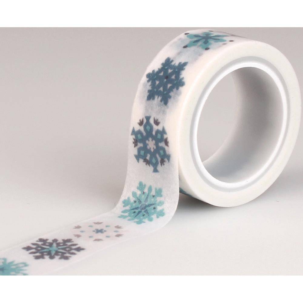 snowflakes hello winter decorative tape washi tape by