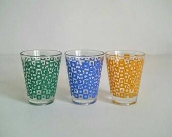 Three Pretty Shot Glasses