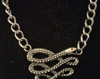 Snake statement necklace