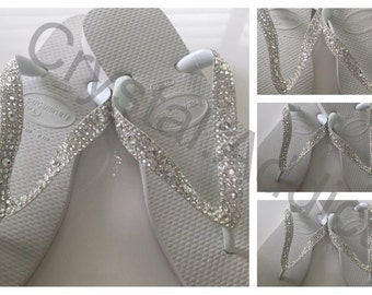 Special Design Havaiana Flip Flops with Swarovski Crystals