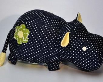 Plush Hippo Toy