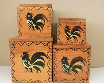 Wooden Canister Set by Woodpecker Woodware