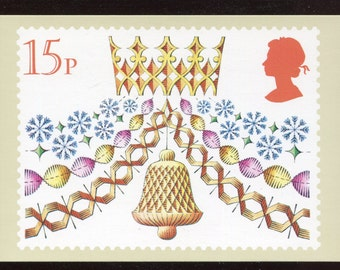 Paper Decorations Christmas PHQ Stamp Series Postcard C124