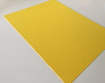 Yellow Card Stock 8.5 x 11 Premium Paper Smooth Acid Free 65 lb / 176 g/m2 Astrobright for scrapbooking paper supply diy multipack supplies