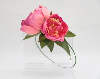 Silk Hot Pink Peony Flower Crown for Weddings Bridal Bridesmaids Hens and Parties