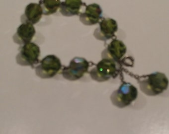 Vintage aurora borealis crystal bracelet