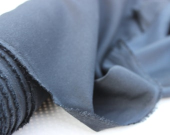 1.5 Yards Black Silk Fabric by the Yard, Silk Yardage, Fabric by the Yard, Yardage